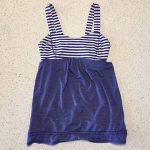EUC Lululemon Stripe Drawstring Waist Workout Tank